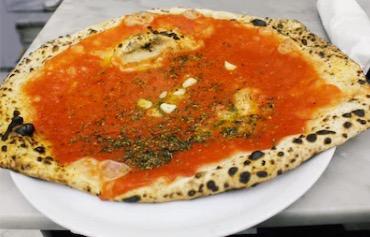 Marinara and Roasted Garlic Neapolitan Wood Fired Pizza